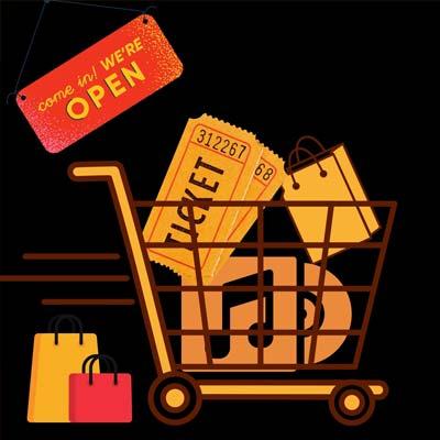 Bild Einkaufswagen, Shop Partyband Boerney
